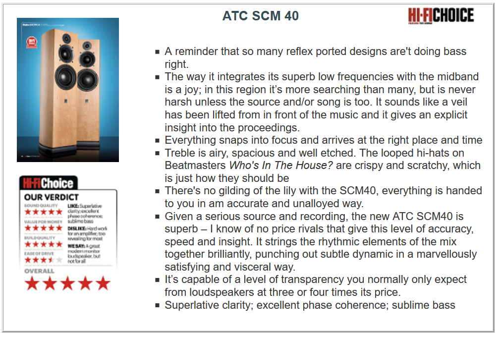 ATC SCM40 test1
